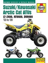 Haynes Suzuki LT-Z400/Kawasaki KFX400/Arctic Cat DVX400 Service and Repair Manual | Editors of Haynes Manuals |