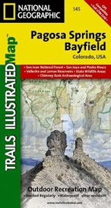 Pagosa Springs/Bayfield, Colorado | National Geographic Maps  Trails Illust |
