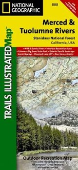 Merced and Tuolumne Rivers [stanislaus National Forest] | National Geographic Maps  Trails Illust |