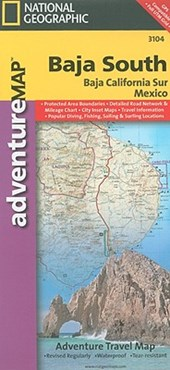 National Geographic Adventure Map Baja South