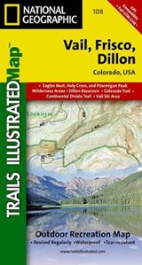 Vail, Frisco, Dillon | National Geographic Maps  Trails Illust |