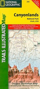 Canyonlands National Park, Utah | National Geographic Maps  Trails Illust |