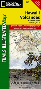 Hawaii Volcanoes National Park | National Geographic Maps  Trails Illust |