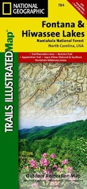 Fontana and Hiwassee Lakes [Nantahala National Forest] | National Geographic Maps  Trails Illust |