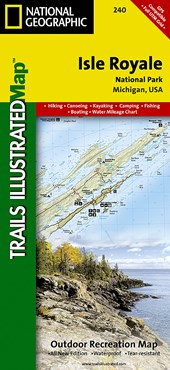 National Geographic Trails Illustrated Map Isle Royale National Park Michigan, USA
