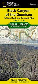 Black Canyon of the Gunnison National Park Curecanti NRA, Colorado, USA Outdoor Recreation Map | National Geographic Maps  Trails Illust |