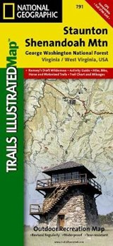 Staunton, Shenandoah Mountain [George Washington and Jefferson National Forests] | National Geographic Maps  Trails Illust |