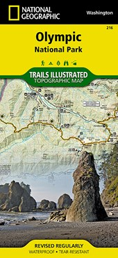 National Geographic Trails Illustrated Map Olympic National Park