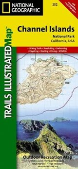 Channel Islands National Park, California, USA | National Geographic Maps  Trails Illust |