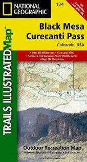 National Geographic Trails Illustrated Map Black Mesa / Curecanti Pass