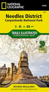Needles District | National Geographic Maps  Trails Illust |