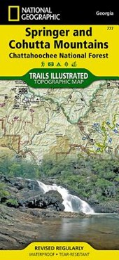 Springer and Cohutta Mountains [Chattahoochee National Forest] | National Geographic Maps  Trails Illust |