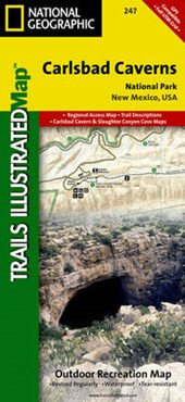 Carlsbad Caverns National Park | National Geographic Maps  Trails Illust |