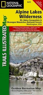 Alpine Lakes Wilderness [Mt. Baker-Snoqualmie and Okanogan-Wenatchee National Forests] | National Geographic Maps  Trails Illust |