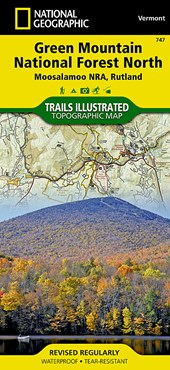 Green Mountain National Forest North [moosalamoo National Recreation Area, Rutland] | National Geographic Maps  Trails Illust |