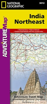National Geographic Adventure Map India Northeast | National Geographic Maps |
