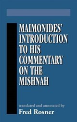 Maimonides Introduction to His | Fred Rosner |