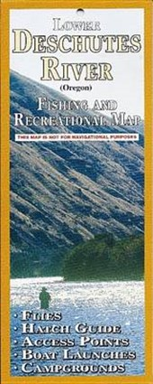 Lower Deschutes River Fishing and Recreation Map