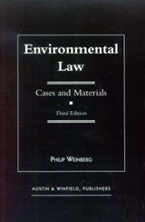Environmental Law | Philip Weinberg |