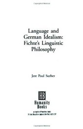 Language and German Idealism
