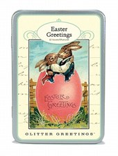 Easter Glitter Greetings Postcards