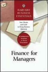 Harvard business essentials: finance for managers | auteur onbekend |