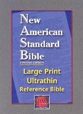 Large Print Ultrathin Reference Bible-NASB [With Velvet Book Holder]