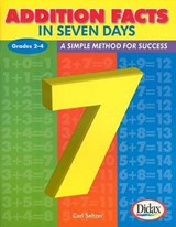 Addition Facts in Seven Days, Grades 2-4 | Carl H. Seltzer |
