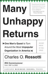 Many Unhappy Returns | Charles O. Rossotti |