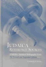 Judaica Reference Sources | Charles Cutter |