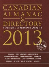 Canadian Almanac & Directory 2013 / Repertoire et Almanach Canadien