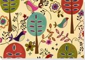 Folk Art Birds Note Cards [With 15 Envelopes]