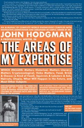The Areas of My Expertise | John Hodgman |
