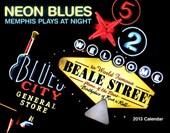 Neon Blues Calendar