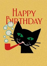 Cat with Pipe Birthday Cards [With Envelope] | auteur onbekend |