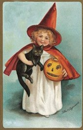 Little Witch Halloween Greeting Card [With Envelope]