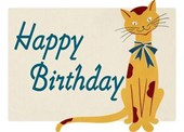 Smiling Cat Birthday Card [With Envelope]
