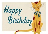Smiling Cat Birthday Card [With Envelope] |  |