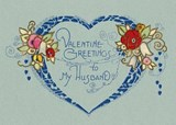 Valentine's Greetings to My Husband Greeting Card [With Envelope] | auteur onbekend |