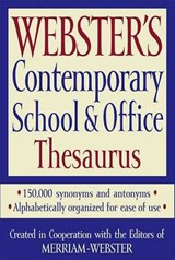 Webster's Contemporary School & Office Thesaurus | auteur onbekend |