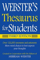 Webster's Thesaurus for Students |  |