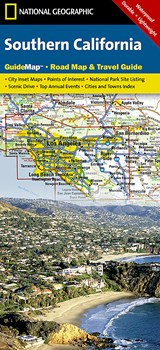 National Geographic State Guide Map Southern California | National Geographic Maps |