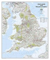 England and Wales Classic [Laminated] | National Geographic Maps  Reference |