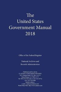 United States Government Manual 2018 | auteur onbekend |