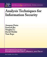 Analysis Techniques for Information Security | Anupam Datta |