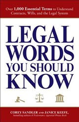 Legal Words You Should Know | Corey Sandler |