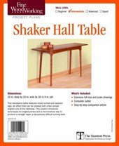 Shaker Hall Table Project Plans