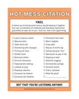 Hot Mess Citation Nifty Note | auteur onbekend |