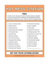 Hot Mess Citation Nifty Note
