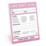 I Heart You Nifty Note |  |